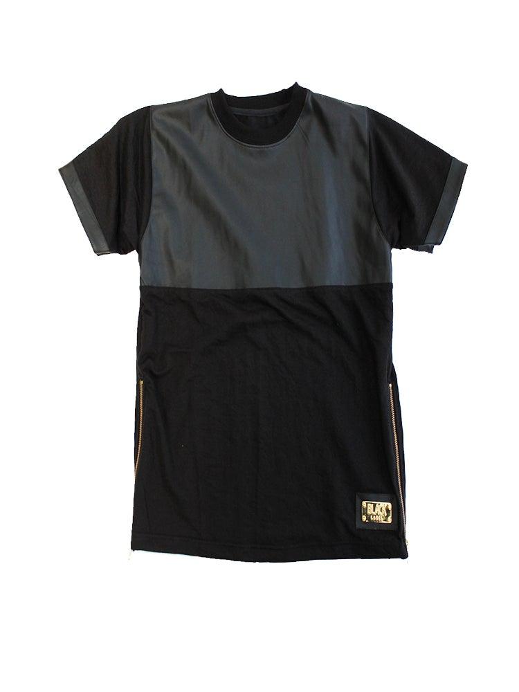 Image of Leather Panel TShirt