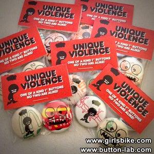 Image of Unique Violence - Abe Lincon Jr. x Button Lab button pack