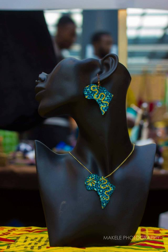 Image of Vekras Accessories Glittery Green/Gold Africa Set Jewellery