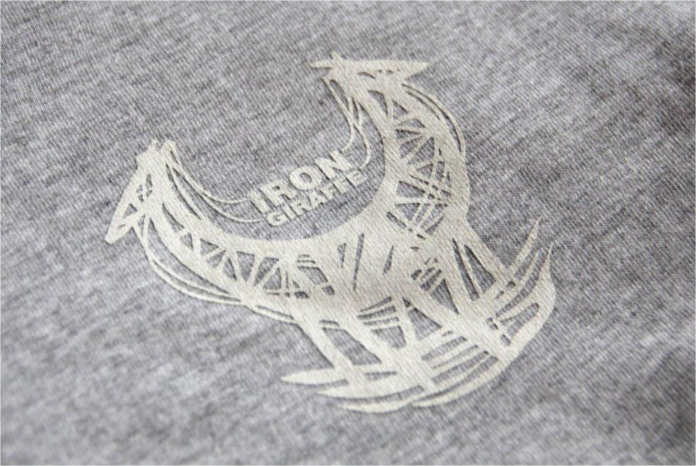Image of Iron Giraffe T-Shirt in grey