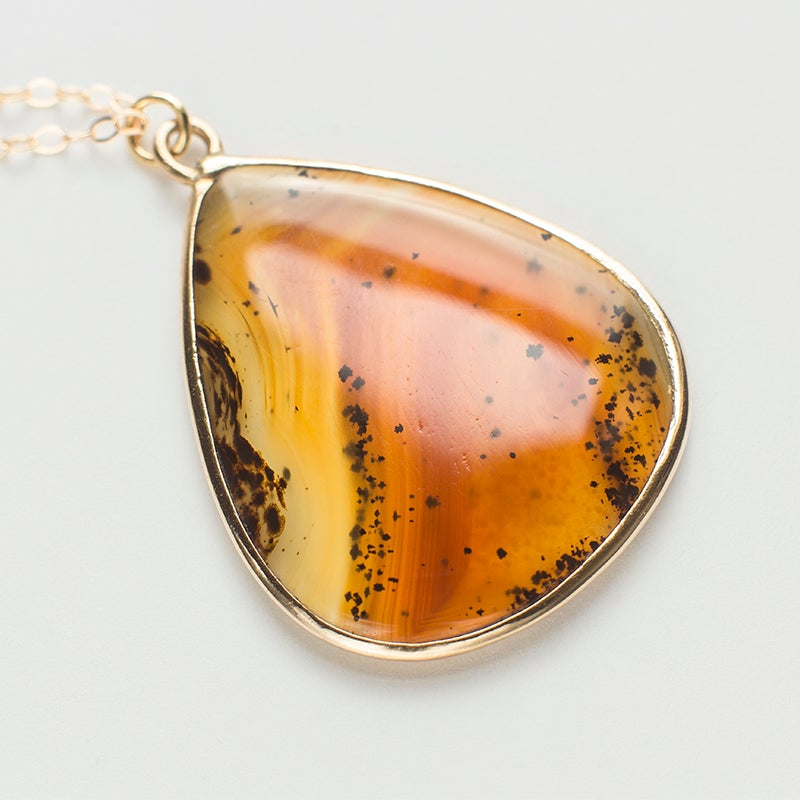 Image of Antique Moss Agate Pendant