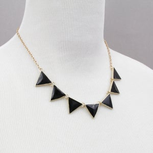 Image of Geometric Necklace, SW179 Black, Fuchsia, Mint