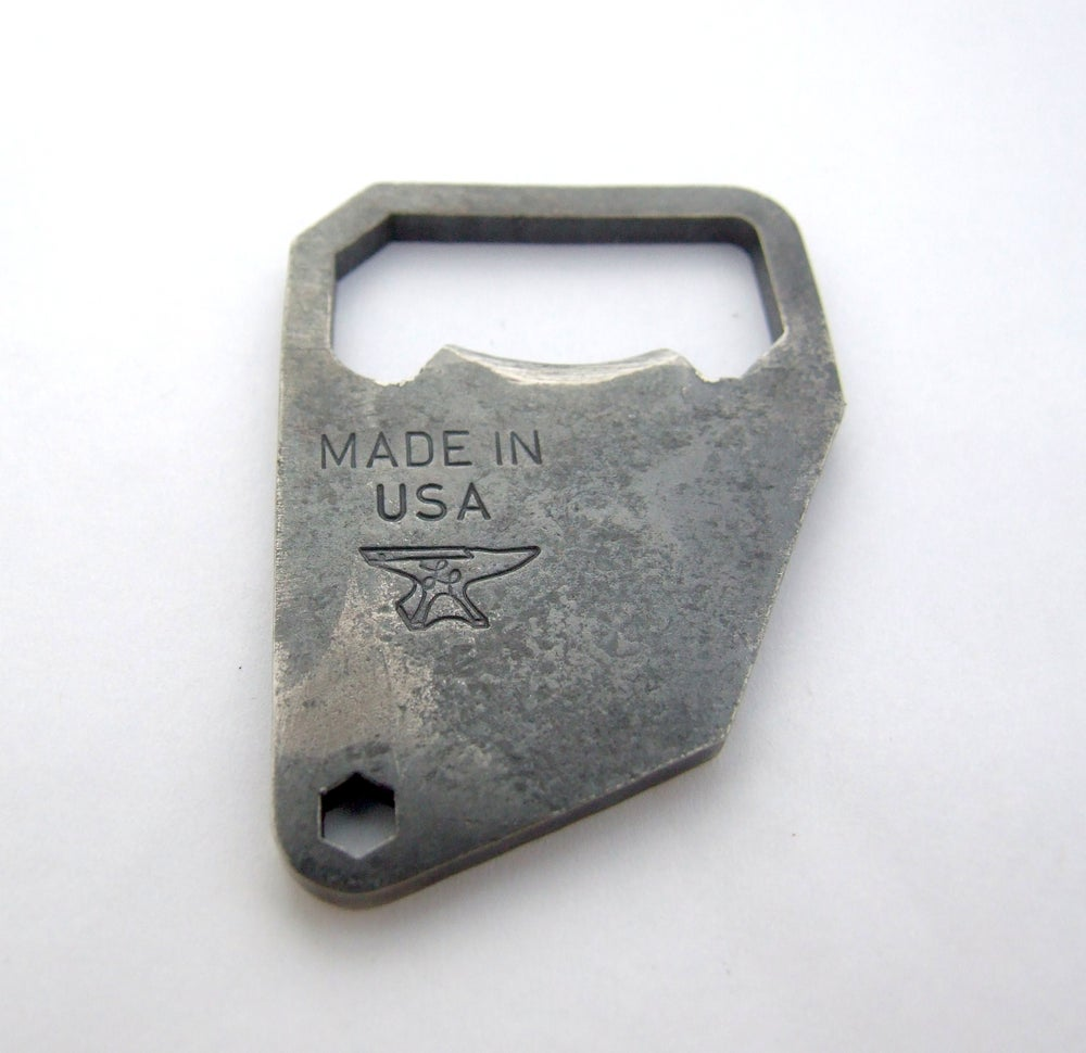 Image of Forged Keychain Bottle Opener