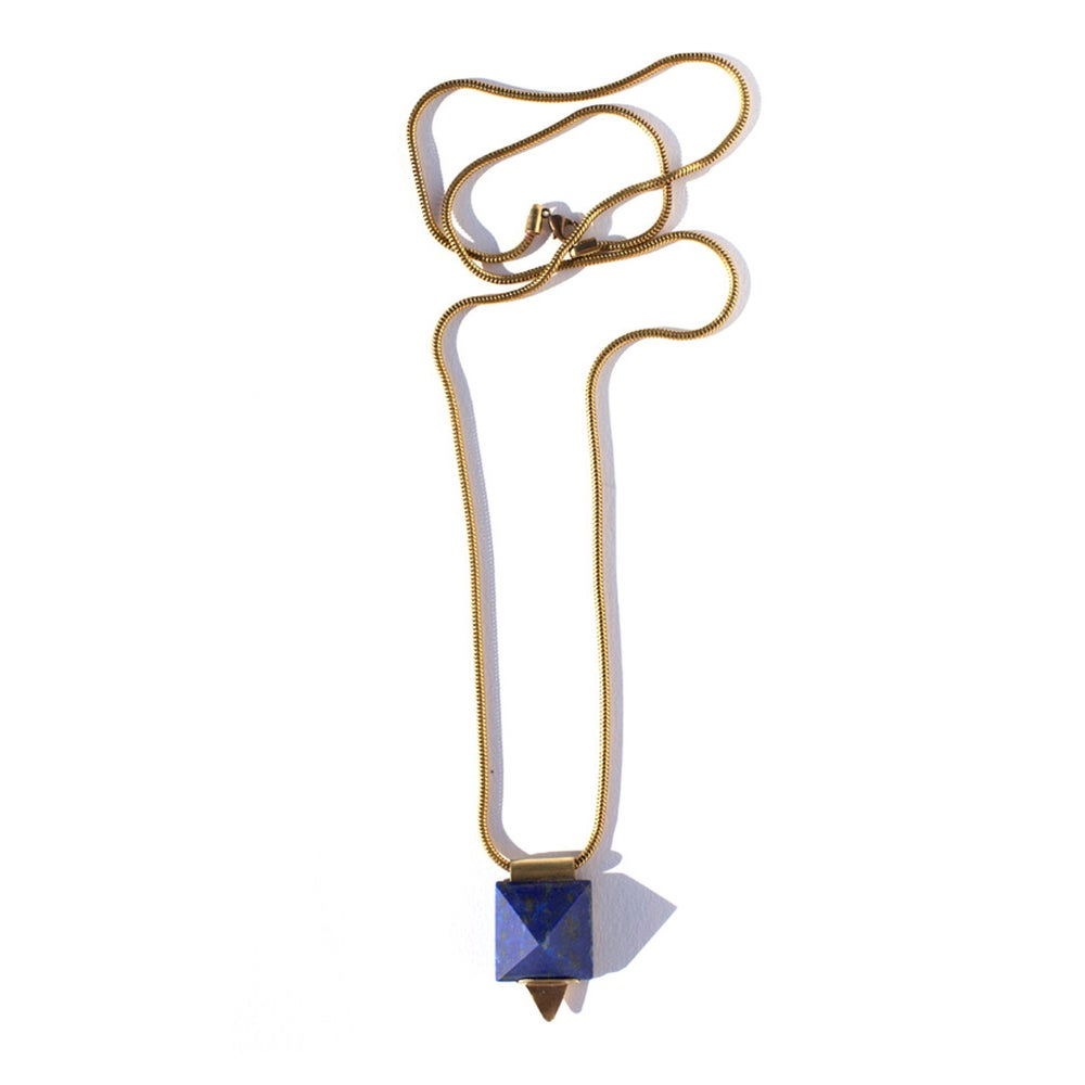 Image of Lapis Pyramid Necklace