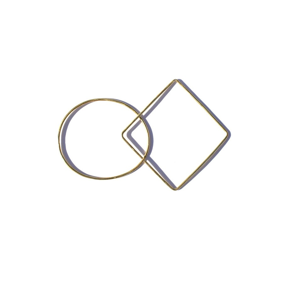 Image of Oval and Sqaure Bangle