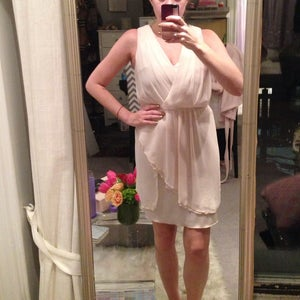 Image of Grecian-inspired flowy cream dress - size S