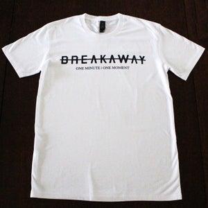 Image of 'BREAKAWAY' White T-shirt
