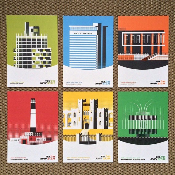 Image of Tel Aviv Icons: Set of 6 small prints by Ron Nadel