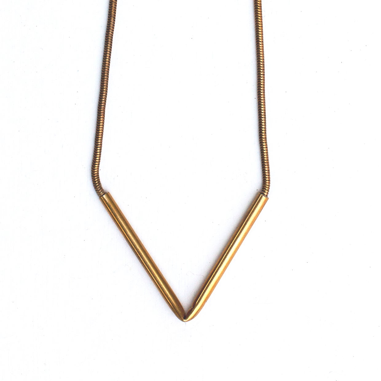 Image of Brass Arrow Necklace