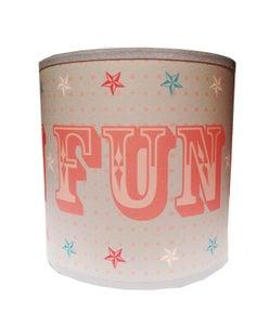 Image of 8inch Fun Shade Grey, Pink & Blue