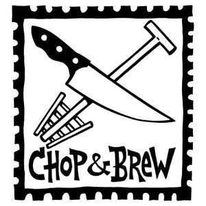 Image of Chop & Brew Logo Sticker **SIX-PACK**