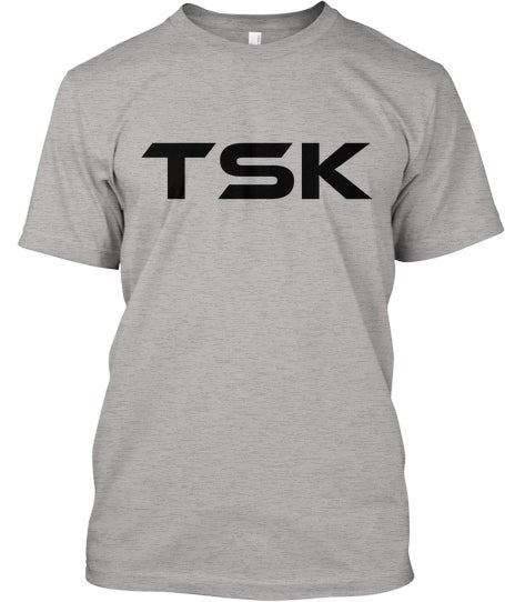 Image of TSK/RWTW Tee (Grey/Black)