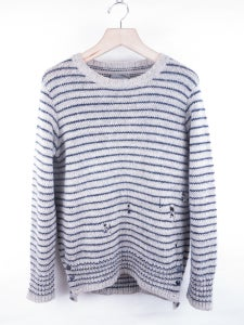 Image of TheSoloist - Striped Grunge Crew Sweater
