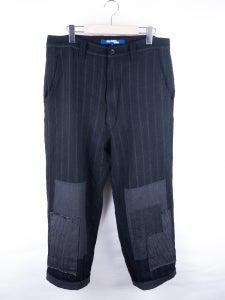 Image of Junya Watanabe MAN - Patchwork Front Garment Milled Pinstripe Pants