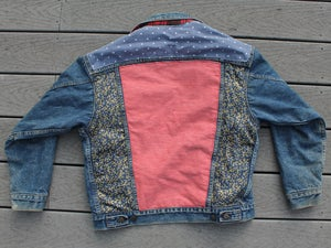 Image of HILL&VELEZ X LeROY JENKINS DENIM JACKETS PLAID LINING