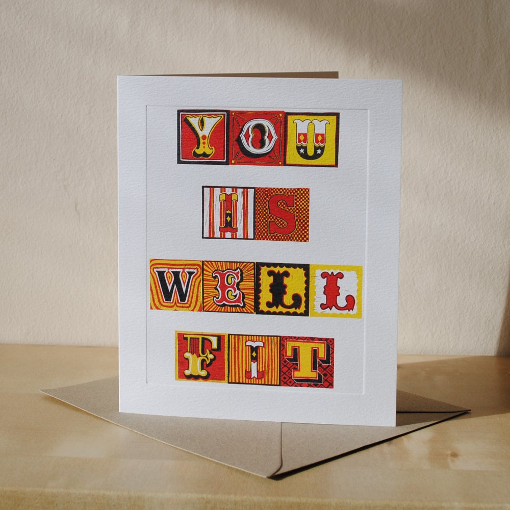 Image of 'You Is Well Fit' Greeting Card