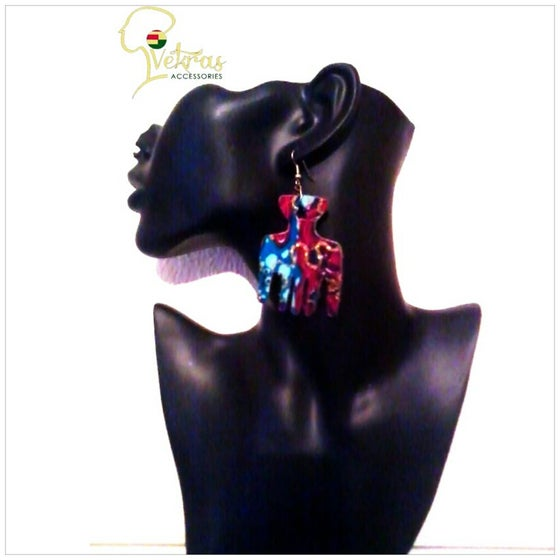 Image of Vekras Multicoloured AfroComb Earrings
