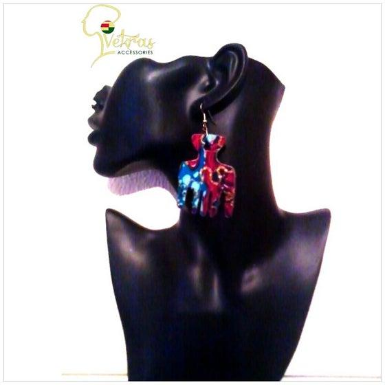 Image of Vekras Multicoloured AfroComb Earrings