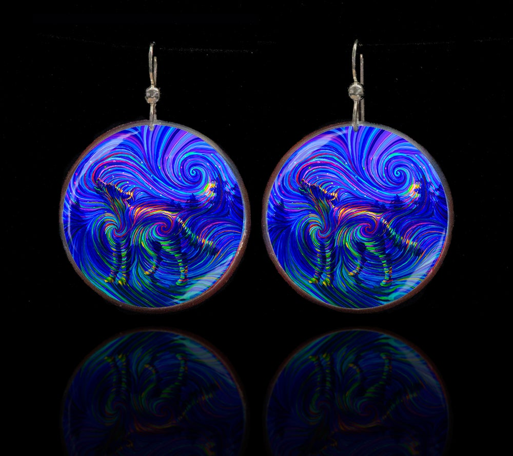 Image of Spirit Wolf Energy Earrings