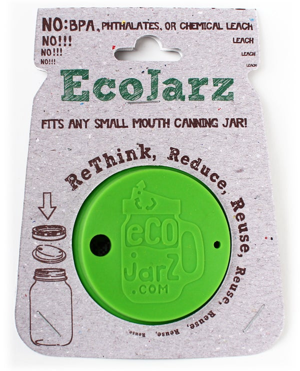 Image of Small Mouth Green Silicon Ecojarz Lid
