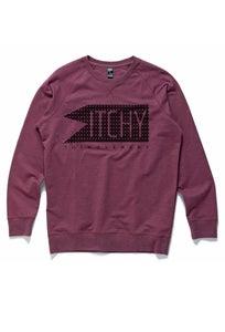 Image of ITCHY 'Dotlight' Logo Sweater: Wine