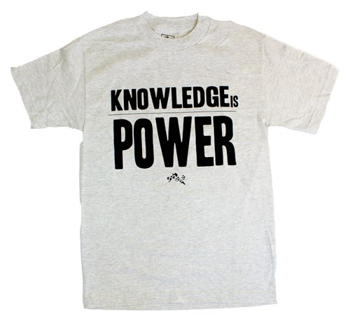 Image of Knowledge is Power T-shirt - Lt. Grey