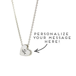 Image of PERSONALIZED MESSAGE - sterling silver conversation heart necklace