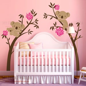 Image of NEW!! Australian Koala Bear Wall decal sticker - Tree Branch Wall decal wall sticker -wall decor