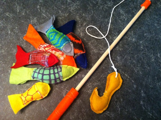 Image of Felt fishing set