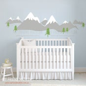 Image of Snow Mountain Scandinavia Design Wall Decal Sticker