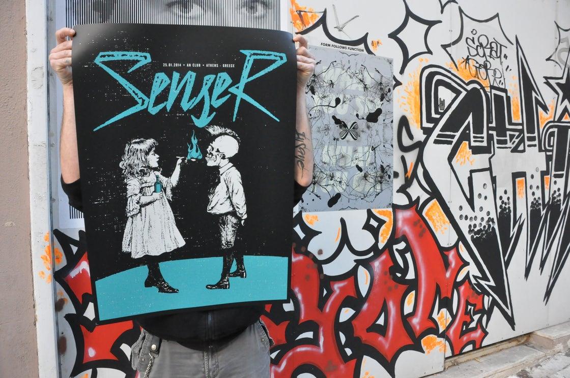 Image of Senser music gig poster