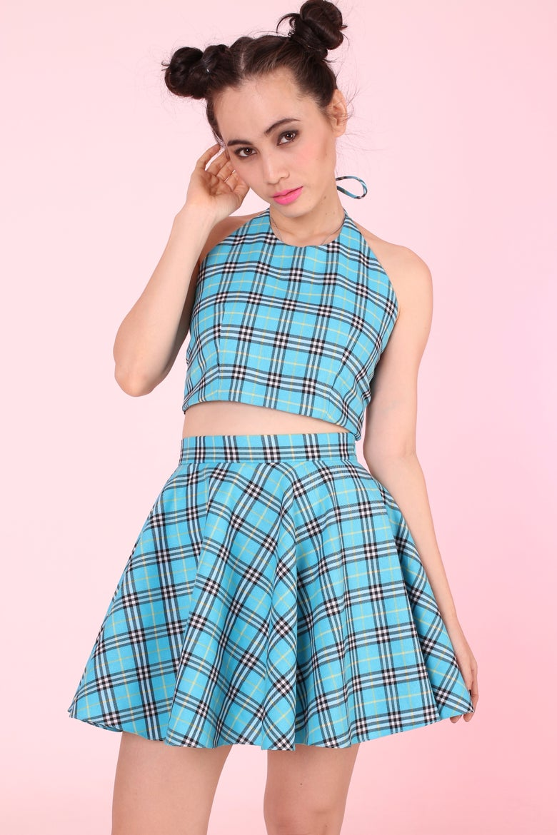 Image of GFD Blue Tartan Hatler & Skater Set