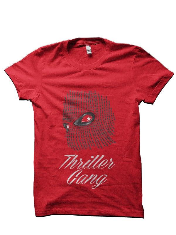 """Image of #THRILLERGANG """"Ski-Mask"""" Tee [RED]"""