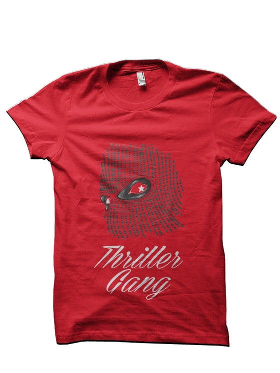 "Image of #THRILLERGANG ""Ski-Mask"" Tee [RED]"