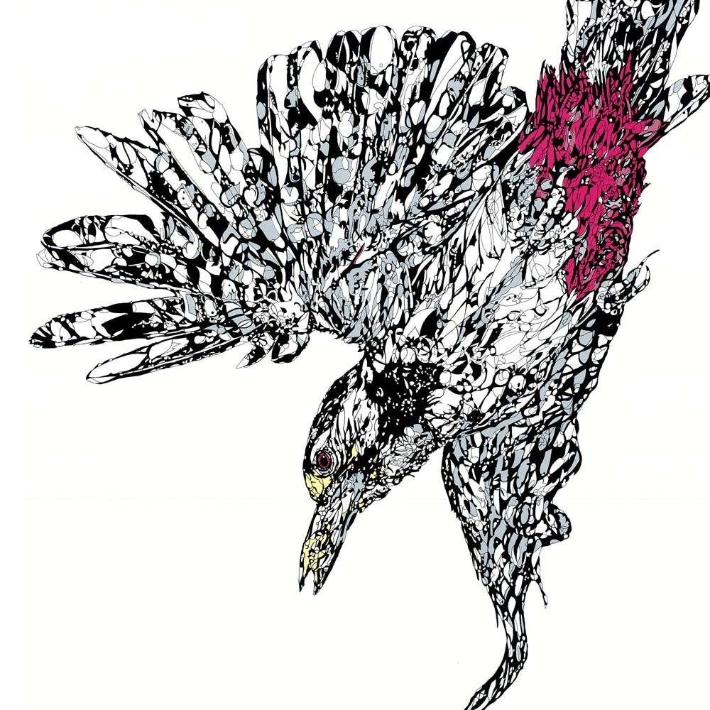 Image of Woodpecker screen print