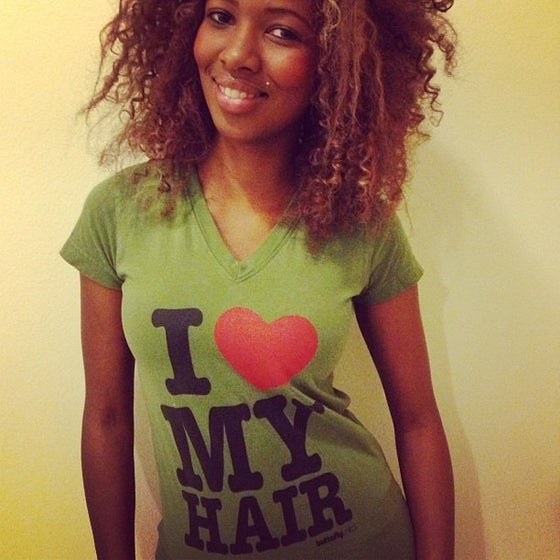 Image of I love My Hair- Olive Green Vneck