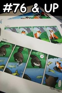 Image of Signed Prints + Original Sketch Card (#76 & UP)