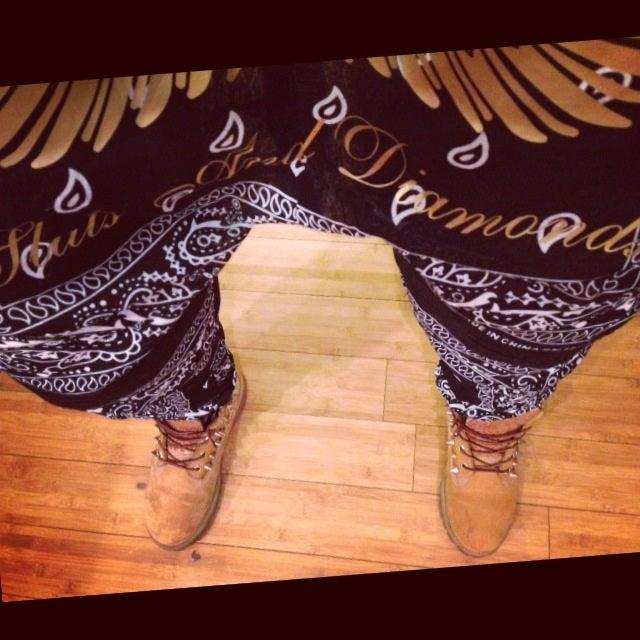 Image of S&D Drop Crotch Bandana Joggers