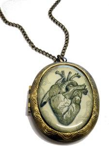 Image of Anatomical Human Heart Locket