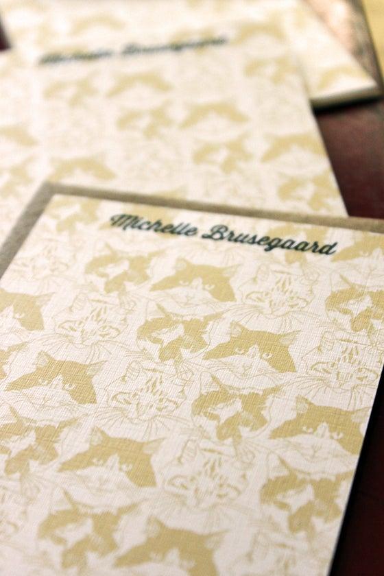 Image of Set of 10 personalized flat notes- Catmouflage