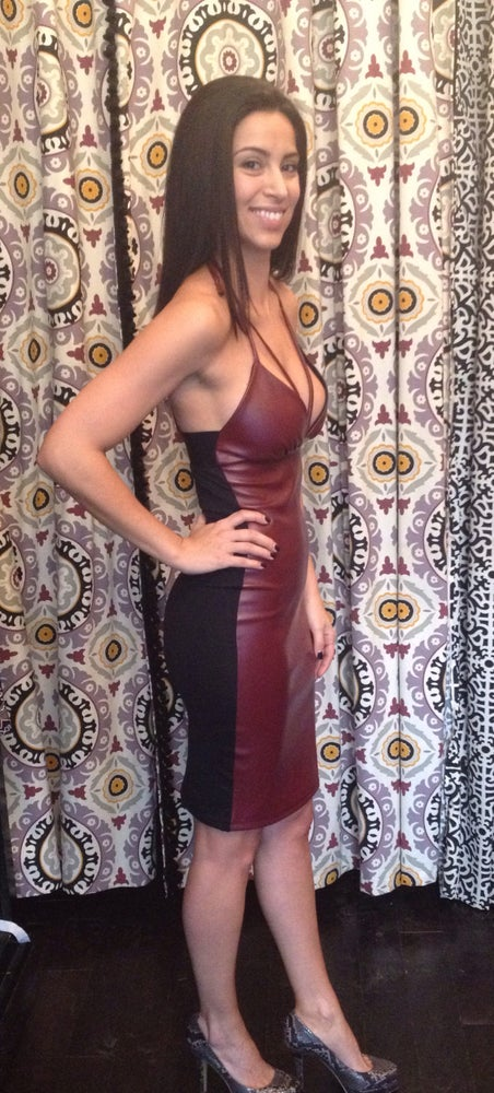 Image of Faux Leather Dress