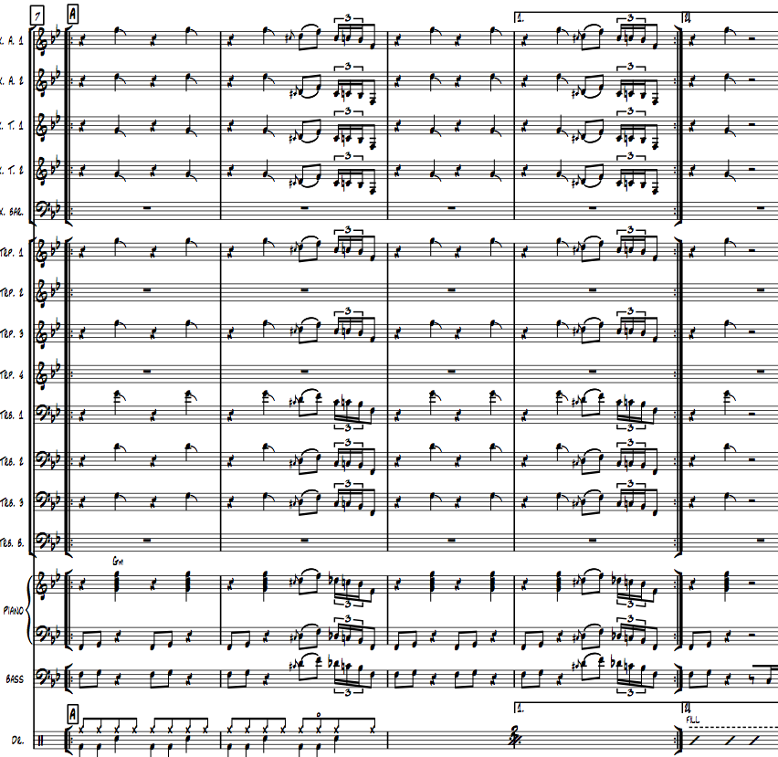 Image of GROUND - Big Band version - Full score and parts