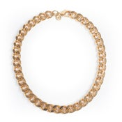 Image of Collier gourmette or / Gold cuban link necklace