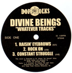 "Image of DIVINE BEINGS ""WHATEVER TRACKS"""