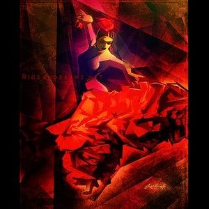 Image of  Day 4 of Flamenco February. Original & prints.