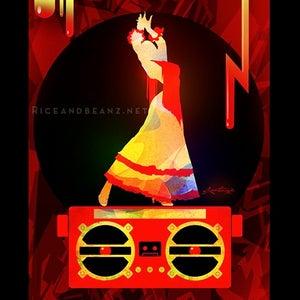 Image of Day 3 of Flamenco February. Original & prints.