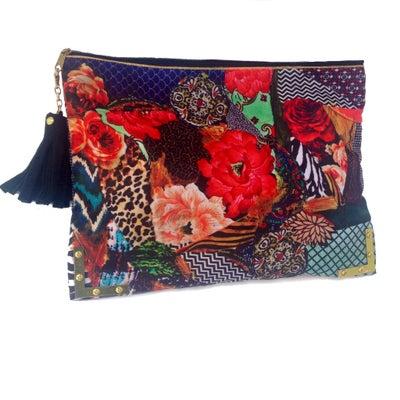 Image of Pieces of love zipper clutch