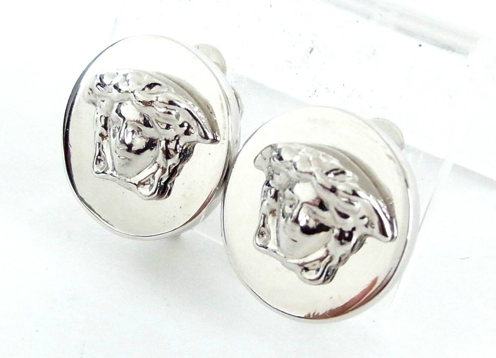 Image of SOLD OUT Authentic Vintage Gianni Versace Medusa Clip On Earrings - Made In Italy
