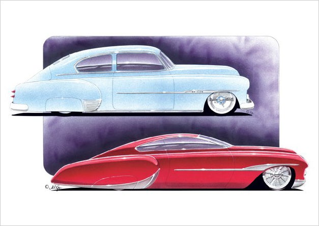 Image of Chevy Fleetline Customs PRINT