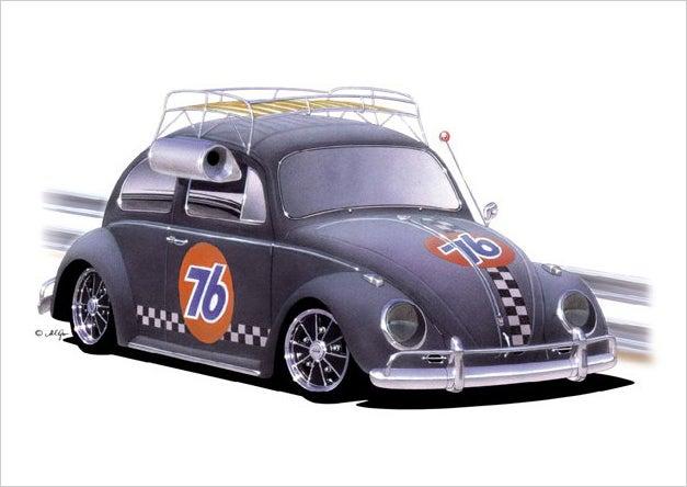 Image of VW Bug Old School PRINT